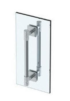 "Sense 12"" Double Shower Door Pull/ Glass Mount Towel Bar Product Image"