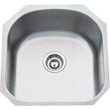 "See Details - 19-3/4"" L x 20-1/2"" W x 9"" D Undermount 18 Gauge Stainless Steel Single Bowl Sink"