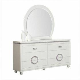 ACME Vivaldi Mirror - 20244 - White High Gloss