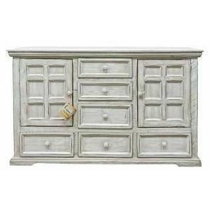 Million Dollar Rustic - Small White Coliseo Dresser