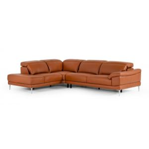 VIG Furniture - Accenti New York - Modern Cognac Leather Left Facing Sectional Sofa