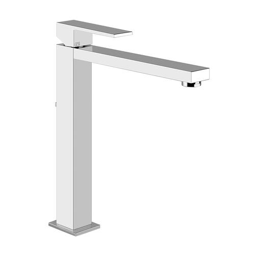 """Gessi - Tall single lever washbasin mixer with pop-up assembly Extended spout projection 8-3/8"""" Height 11-11/16"""" 1-1/4"""" D"""