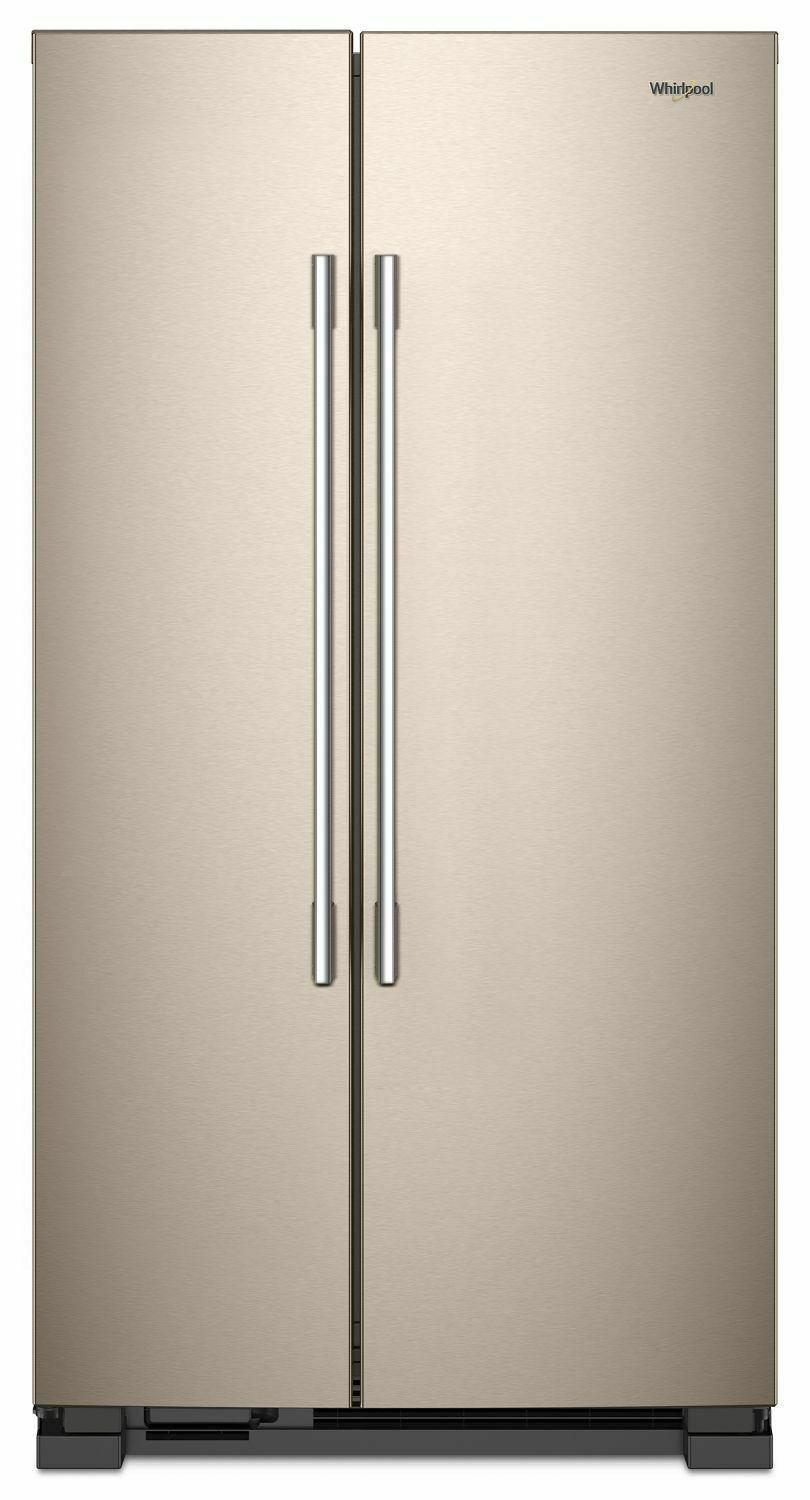 Whirlpool36-Inch Wide Side-By-Side Refrigerator - 25 Cu. Ft. Sunset Bronze