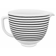 View Product - 5 Quart Patterned Ceramic Bowl - Horizontal Stripes
