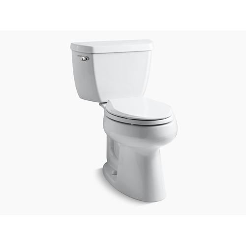 Kohler - White Two-piece Elongated 1.28 Gpf Chair Height Toilet