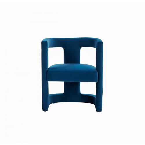 VIG Furniture - Modrest Kendra - Modern Blue Fabric Accent Chair