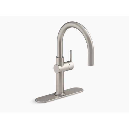 Vibrant Stainless Single-handle Bar Sink Faucet
