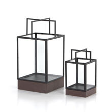 Delsin Outdoor Lantern, Set 2-black