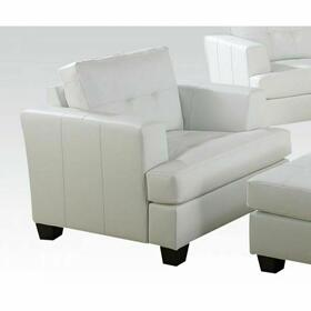 ACME Platinum Chair - 15097B - White Bonded Leather