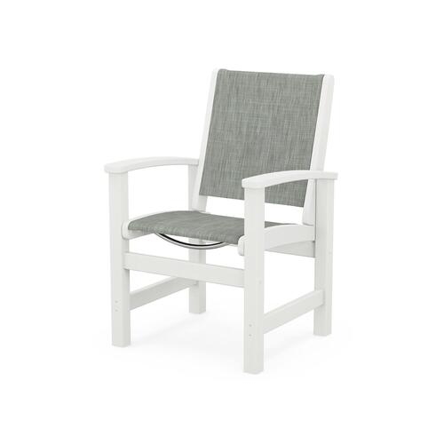 Coastal Dining Chair in Vintage White / Birch Sling