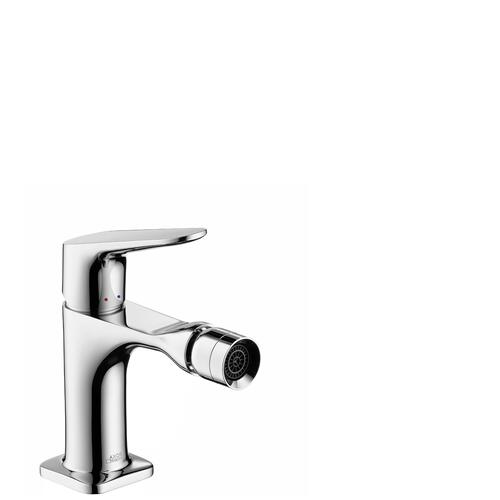 Chrome Single lever bidet mixer with pop-up waste set