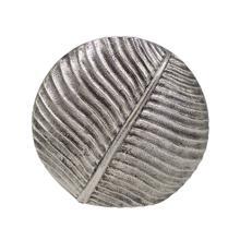 Medium Textured Round Vase In Antique Silver