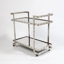 See Details - Quartz Stud Bar Cart-Silver Leaf