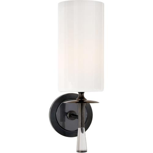 AERIN Drunmore 1 Light 5 inch Bronze with Crystal Single Sconce Wall Light