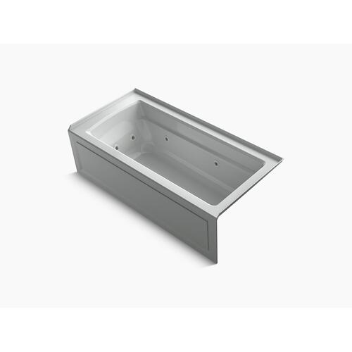 "Ice Grey 66"" X 32"" Integral Apron Whirlpool With Integral Flange, Right-hand Drain and Heater"