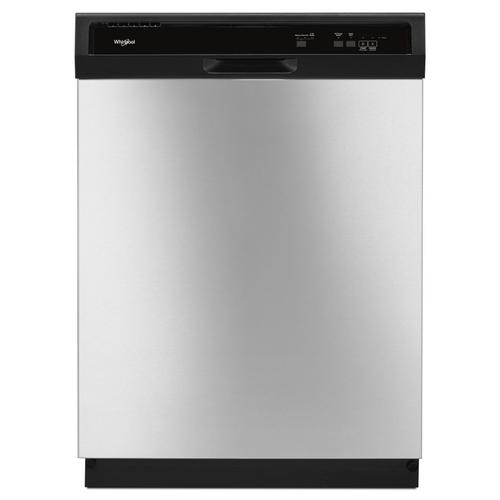 Whirlpool - Heavy-Duty Dishwasher with 1-Hour Wash Cycle Stainless Steel