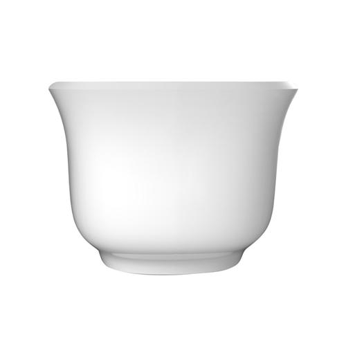"""Ceres 59"""" Acrylic Tub with Integral Drain and Overflow - White Powder Coat Drain and Overflow"""