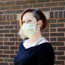 See Details - Reusable Face Mask in Summer Stripe