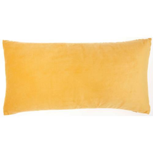 "Luminescence Et139 Yellow 12"" X 24"" Throw Pillow"
