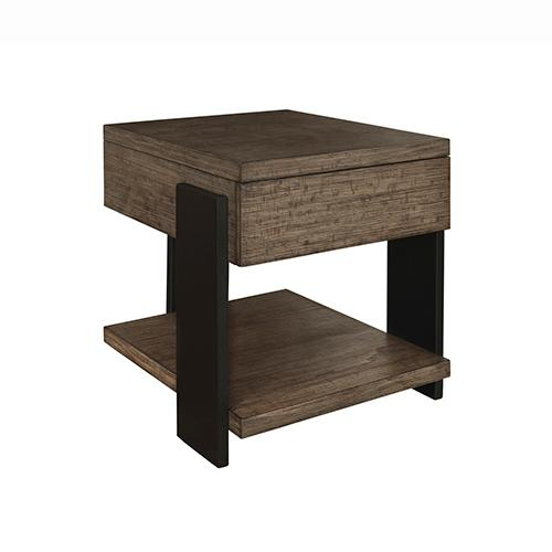 End Table - Clay/Black Finish