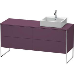 Vanity Unit For Console Floorstanding, Aubergine Satin Matte (lacquer)