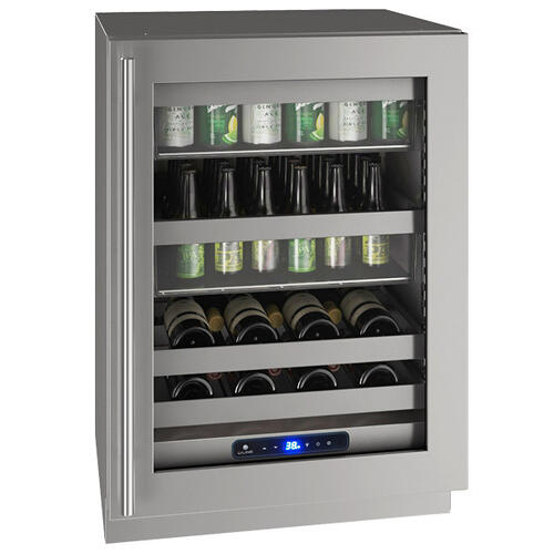 "24"" Beverage Center With Stainless Frame Finish and Left-hand Hinge Door Swing (115 V/60 Hz Volts /60 Hz Hz)"