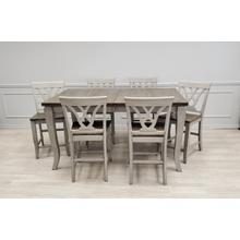 View Product - Solid Wood Table w/Light Grey Finish & Rustic Brown Top