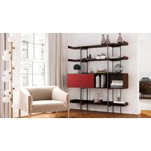 View Product - Margo 5201 Shelf in Toasted Walnut Cayenne
