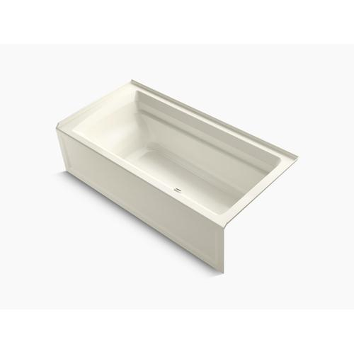 """Biscuit 72"""" X 36"""" Alcove Bath With Integral Apron and Right-hand Drain"""