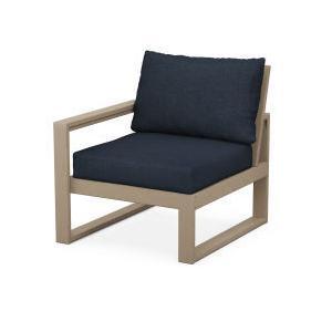 Polywood Furnishings - EDGE Modular Left Arm Chair in Vintage Sahara / Marine Indigo
