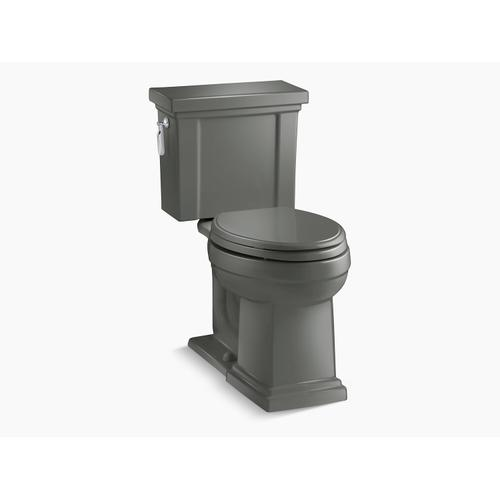 Kohler - Thunder Grey Two-piece Elongated 1.28 Gpf Chair Height Toilet