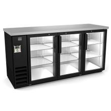 "See Details - Refrigeration Equipment Bar Equipment 3-glass door Refrigerator, 20.8 cu.ft, 72"" (R290)"