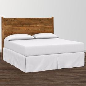 Bench*Made Maple Cal King Upholstered Panel Bed, Footboard Low, Footboard Post Height Standard