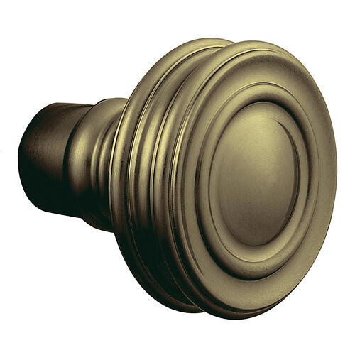 Baldwin - Satin Brass and Black 5066 Estate Knob