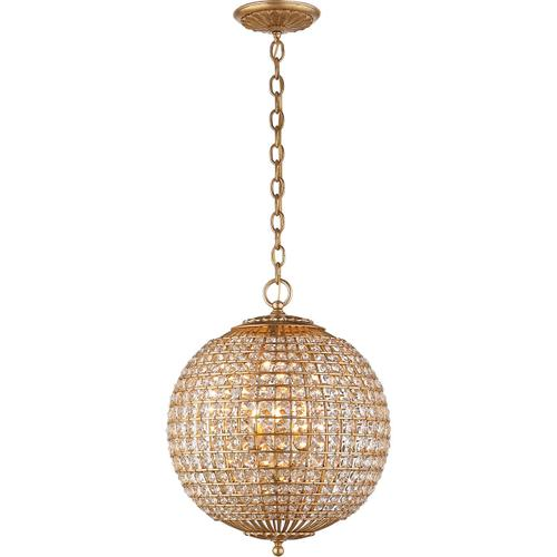 AERIN Renwick 4 Light 19 inch Gild Sphere Chandelier Ceiling Light, Small