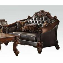 ACME Vendome II Loveseat w/3 Pillows - 53131 - 2-Tone Dark Brown PU & Cherry