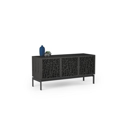 BDI Furniture - Elements 8777 Console Storage Console in Ricochet Doors Charcoal Stained Ash
