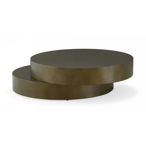 VIG Furniture - Modrest Grayson - Glam Brushed Bronze Metallic Coffee Table
