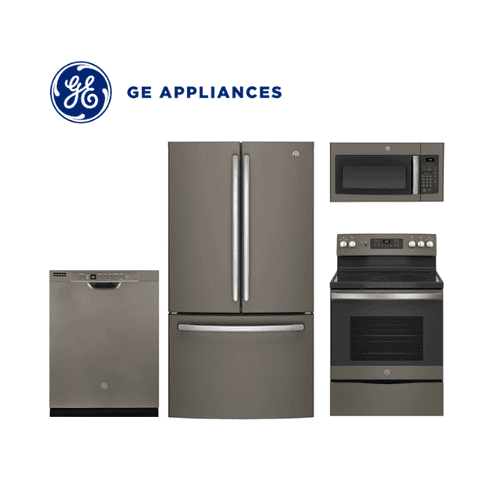 GE 4 Piece Slate Kitchen Package