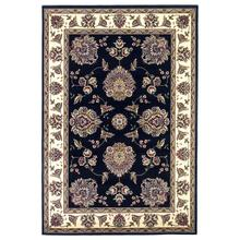 "Cambridge 7339 Black/ivory Floral Mahal 5'3"" X 7'7"""