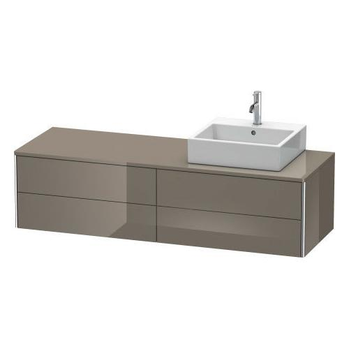 Product Image - Vanity Unit For Console Wall-mounted, Flannel Gray High Gloss (lacquer)