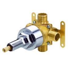 "Rough Brass Single Handle 1/2"" 4-Port/3-Outlet Shower Diverter Valve"