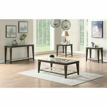 ACME Peregrine Coffee Table - 87990 - Walnut & Glass