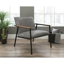 Modern Gray Faux Leather Armchair