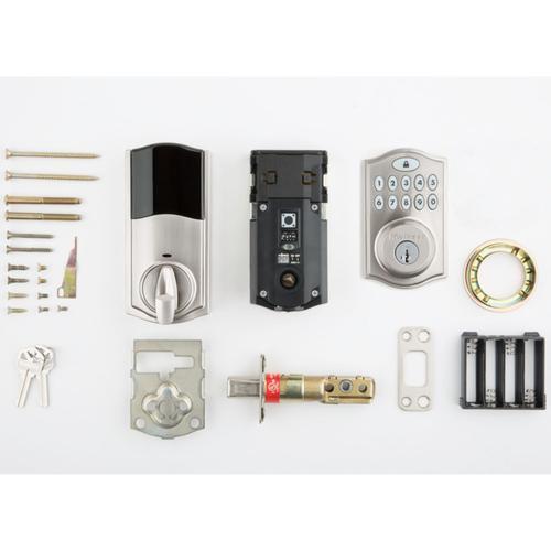 Kwikset - 914 SmartCode Traditional Electronic Deadbolt with Zigbee Technology - Satin Nickel