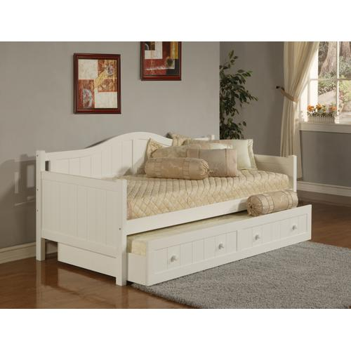 Staci Complete Twin-size Daybed With Trundle, White