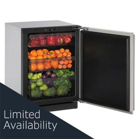 "24"" Refrigerator With Stainless Solid Finish and Field Reversible Door Swing (115 V/60 Hz Volts /60 Hz Hz)"