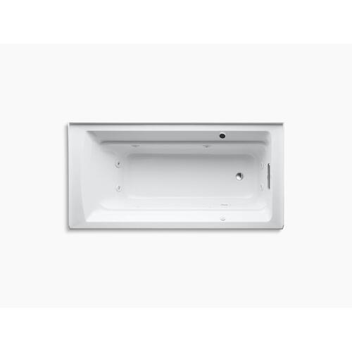 "Dune 72"" X 36"" Alcove Whirlpool Bath With Bask Heated Surface, Integral Flange, and Right-hand Drain"