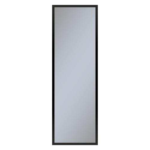 """Profiles 15-1/4"""" X 48"""" X 4"""" Framed Cabinet In Matte Black With Electrical Outlet, Usb Charging Ports, Magnetic Storage Strip and Left Hinge"""