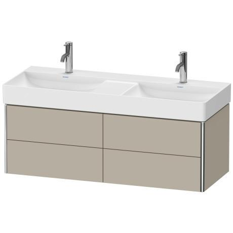 Duravit - Vanity Unit Wall-mounted, Taupe Satin Matte (lacquer)